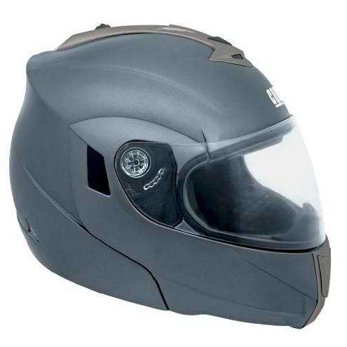 CGM THUNDERBOLT flip off helmet with double visor Gunmetal