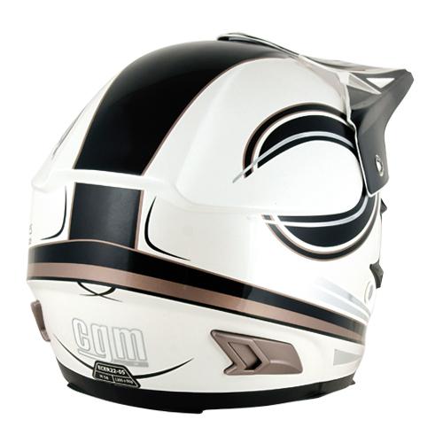 CGM 610P Moonshine off-road helmet white pearl-black