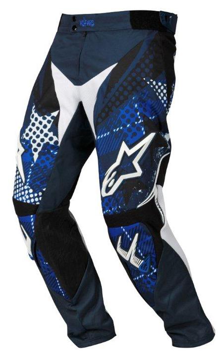Pantaloni cross-enduro Alpinestars Charger Punk blu-bianco