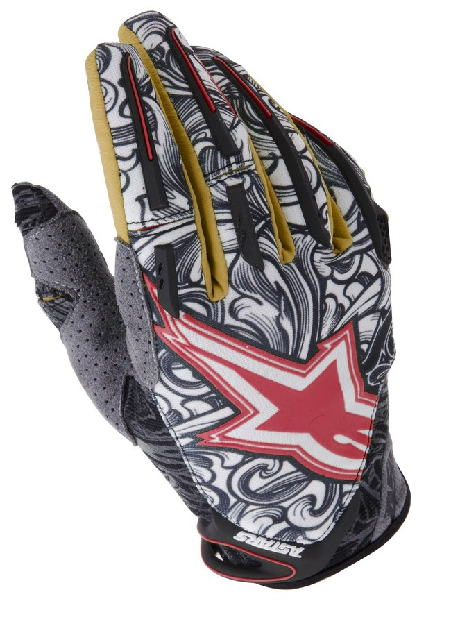 Alpinestars Charger off-road gloves gold white red