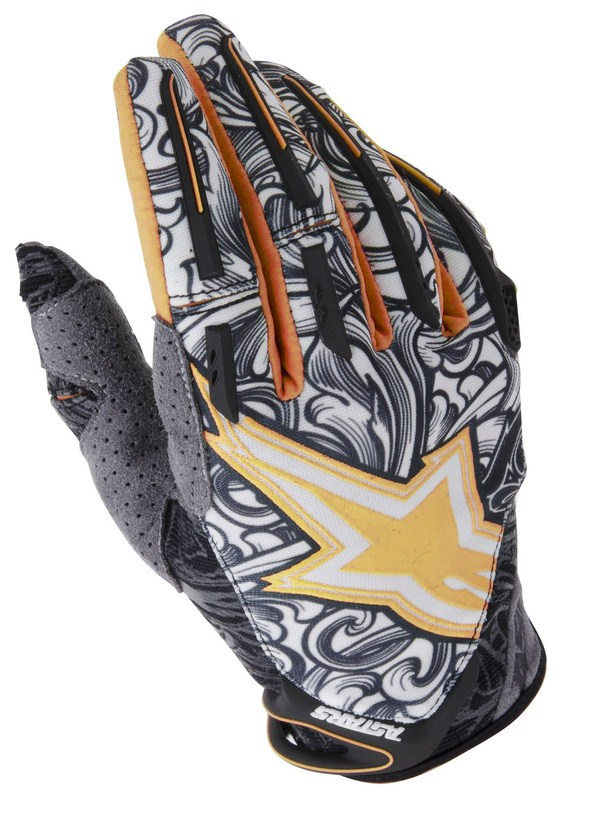 Alpinestars Charger off-road gloves orange black white