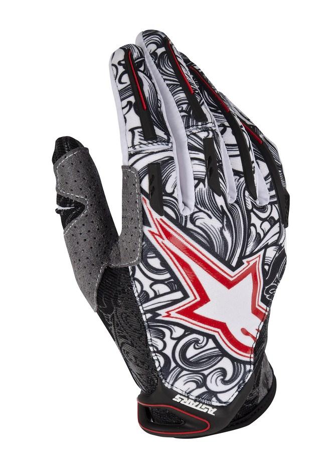 Alpinestars Charger off-road gloves black white red