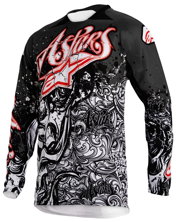 Alpinestars Charger Youth jersey black white red