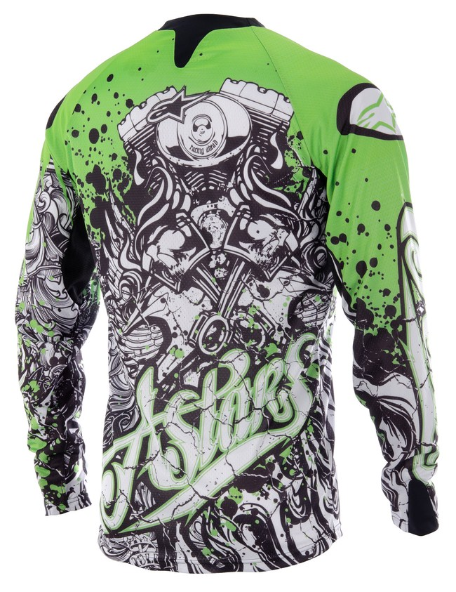 Alpinestars Charger off-road jersey green black white
