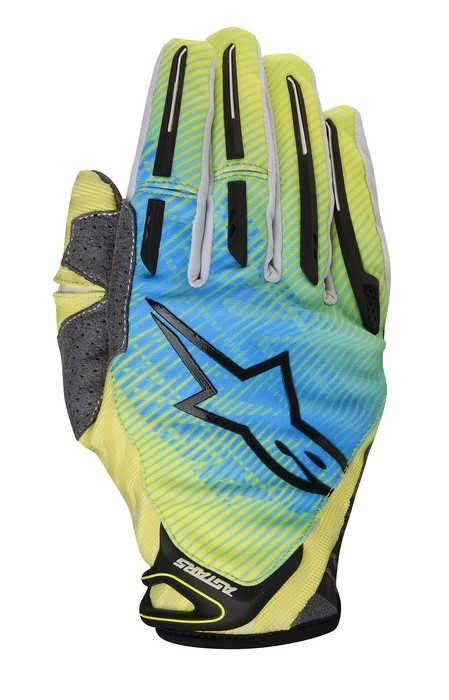 Alpinestars Charger 2014 offroad gloves lime green cyan