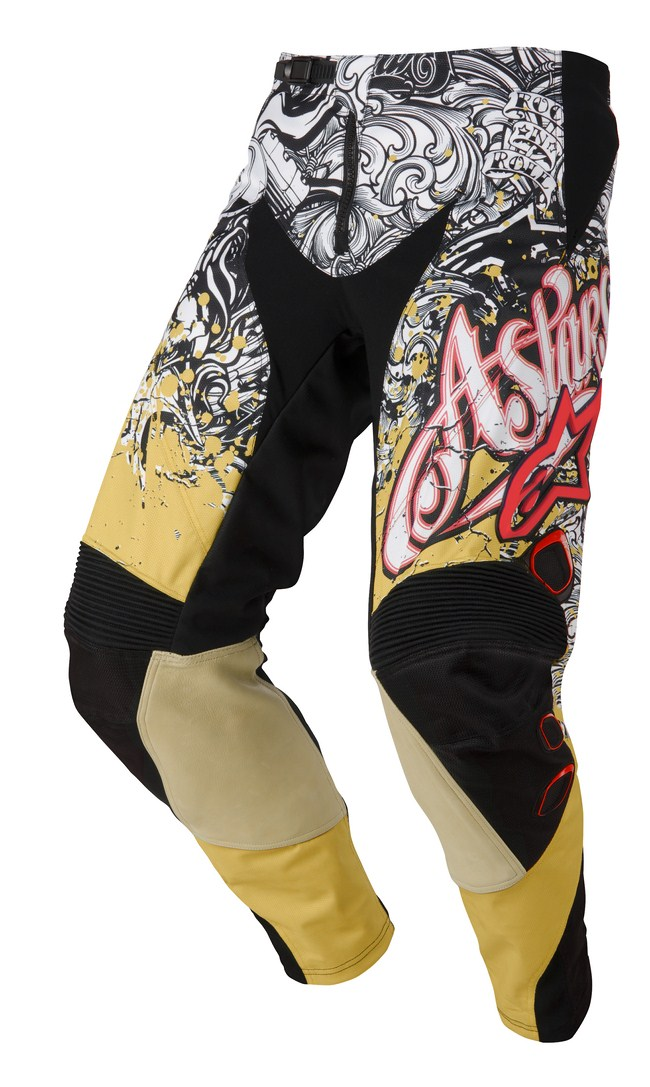Pantaloni cross Alpinestars Charger oro bianco rosso