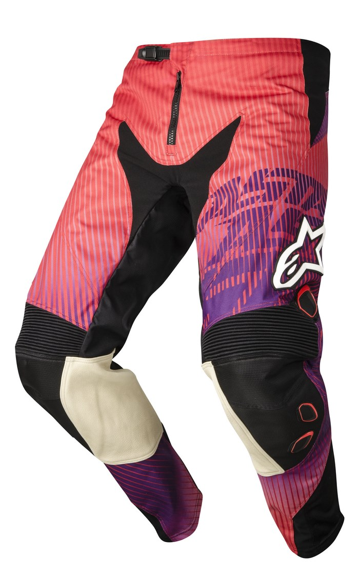 Alpinestars Charger 2014 offroad pants red violet