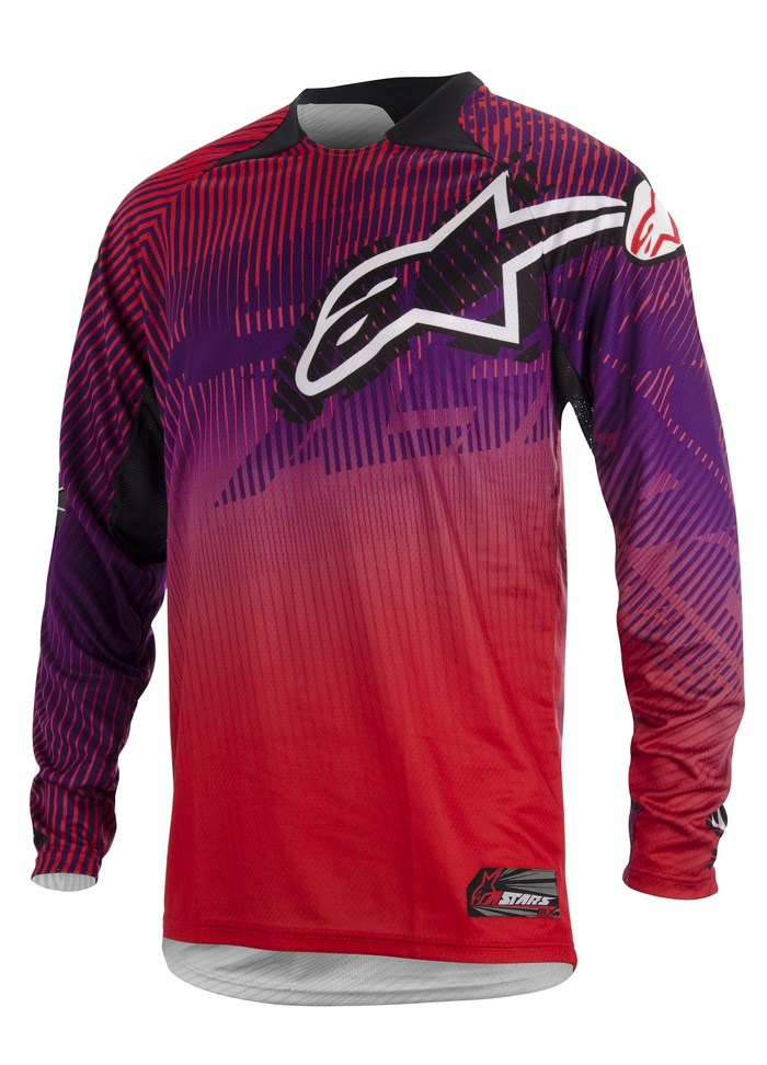 Alpinestars Charger 2014 offroad jersey red purple