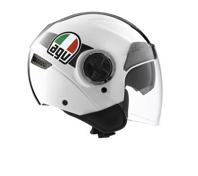 AGV Citylight Multi Race Open Face Helmet - Col. White/Black