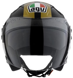 Casco moto Agv Citylight Multi Race nero-oro