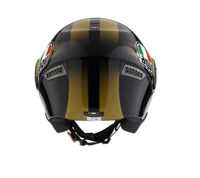Casco moto Agv Citylight Multi Race nero-oro