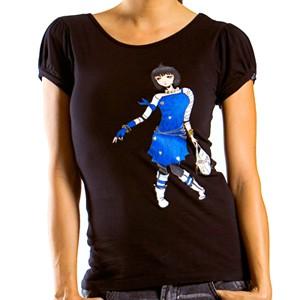 T-shirt Lady Alpinestars Cleo Poofy Sleeve Tee nera