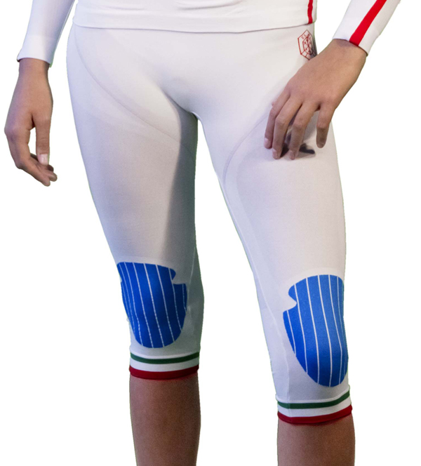 Short tights woman Mico Official Champion White Fisi