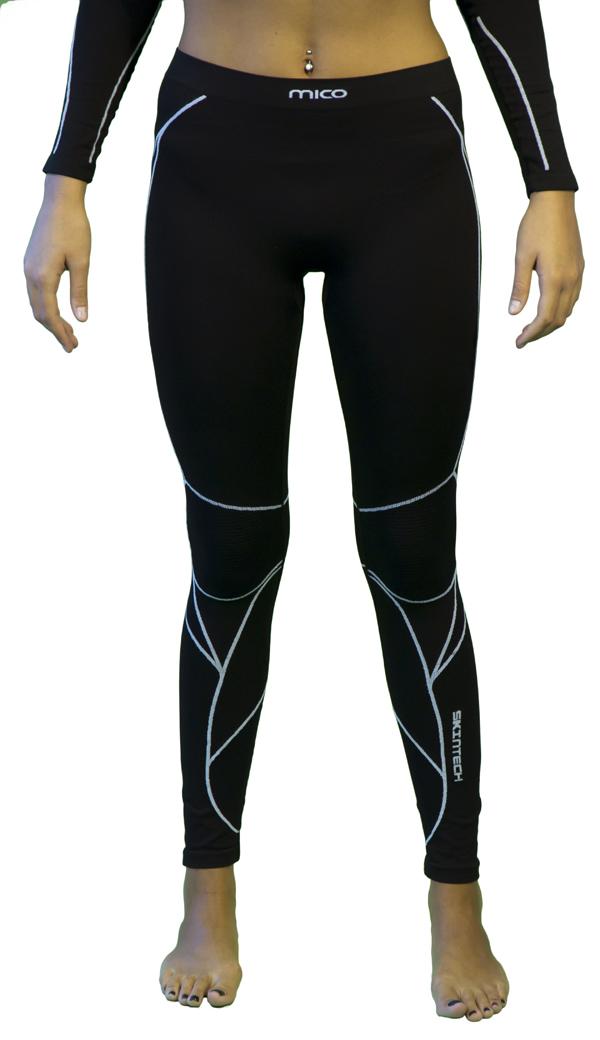 Women long tights Mico Warm Black Skin