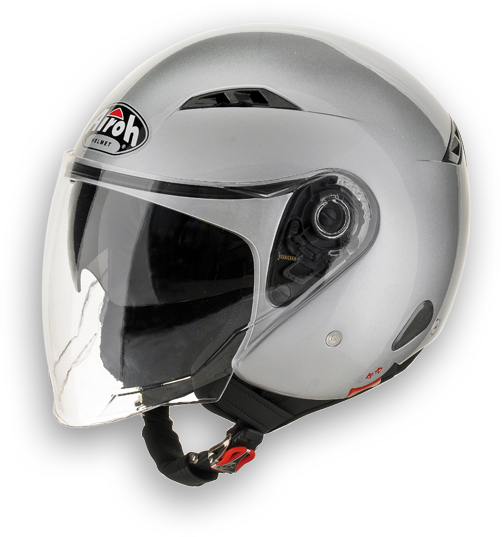 Airoh City one Color urban jet helmet silver metal
