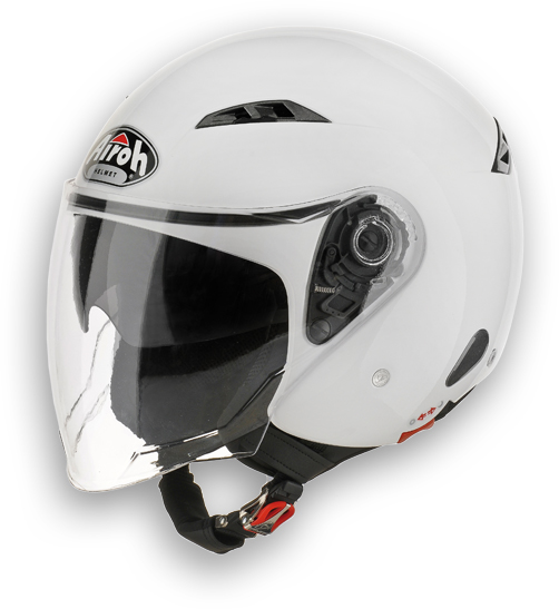 Airoh City one Color urban jet helmet white gloss
