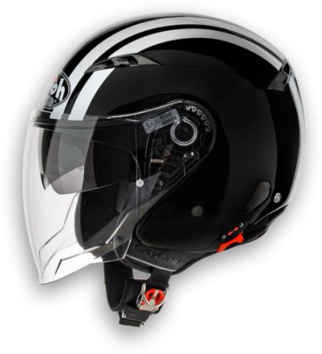 Airoh City One Flash urban jet helmet black gloss