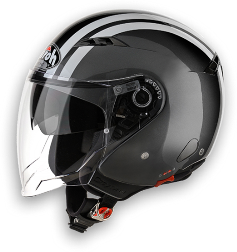 Airoh City One Flash urban jet helmet anthracite gloss