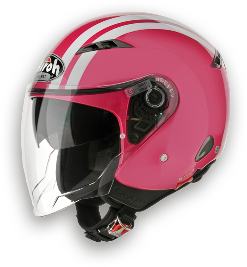 Airoh City One Flash urban jet helmet pink gloss