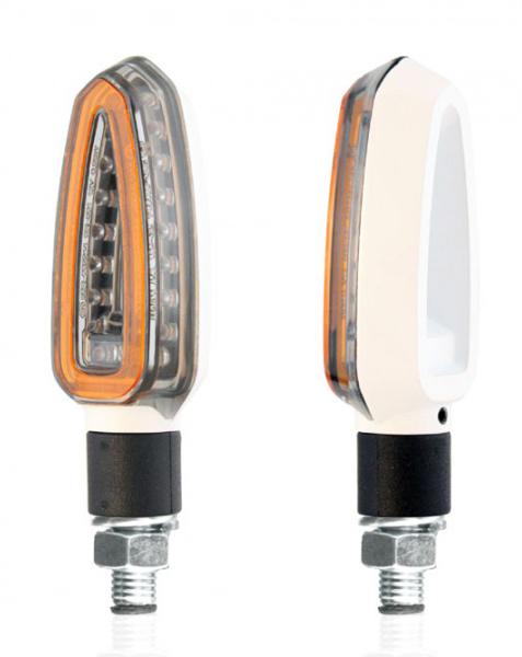 Coppia frecce LED omologate Chaft Falcon Bianco Fumè