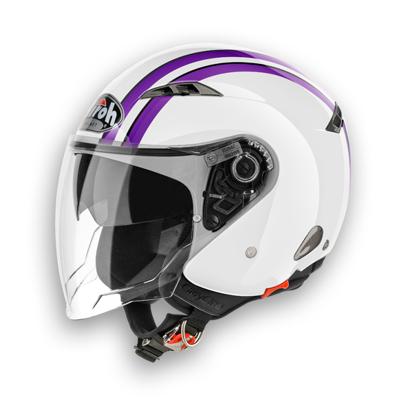 Casco jet Airoh City One Style viola lucido