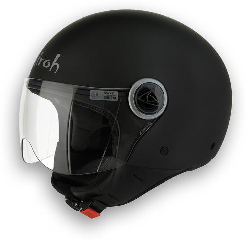 Compact Color Motorcycle Helmet Matte Black Airoh