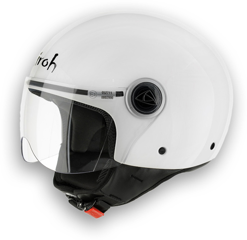 Motorcycle Helmet Compact Color glossy white Airoh