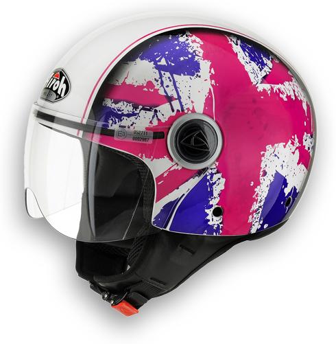 Casco moto Airoh Compact Fun rosa lucido