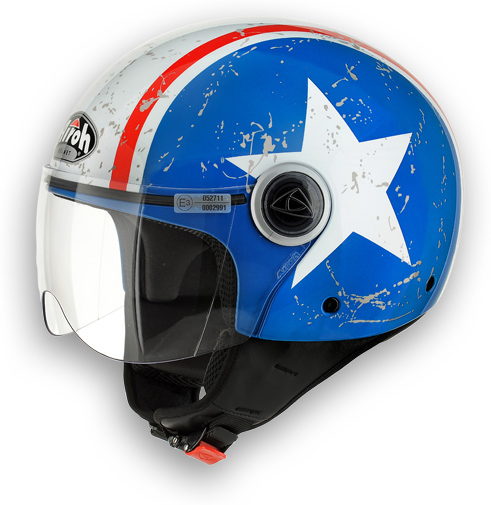 Motorcycle Helmet Shield Shiny Blue Compact Airoh