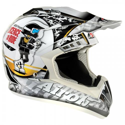 Casco moto cross Airoh CR900 Ride bianco