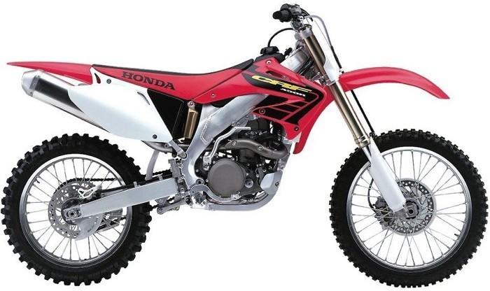 Kit plastiche moto Ufo per Honda CRF450cc 02-03 Rosso
