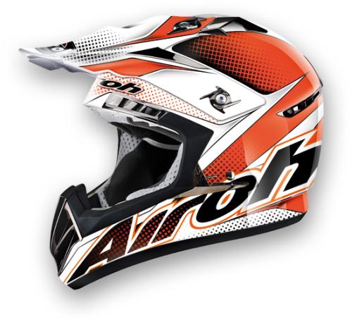 Casco moto cross Airoh CR900 Linear arancio