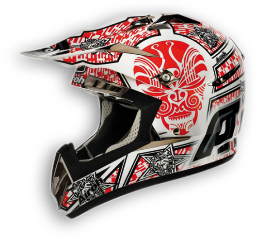 Airoh CR900 Maori off-road helmet red gloss