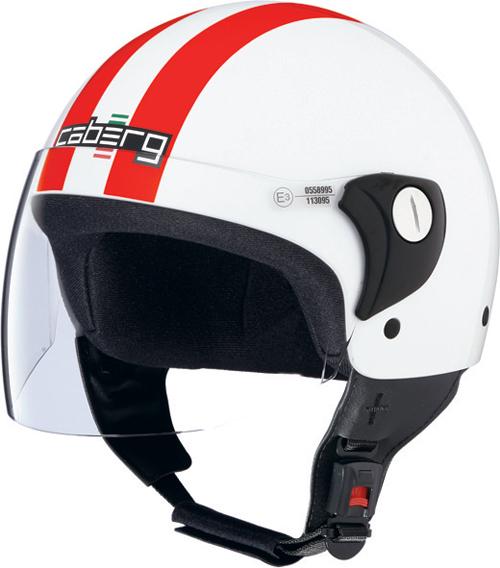 Casco moto Caberg Cruiser Visor Legend bianco-rosso