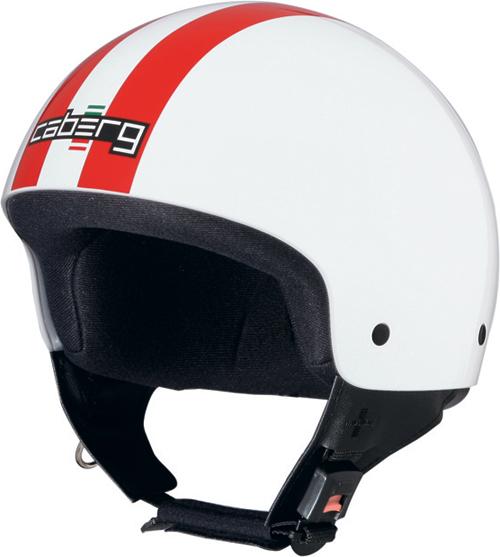 Casco moto Caberg Cruiser Legend bianco-rosso