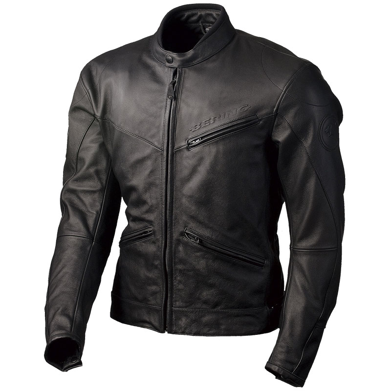Waterproof leather motorcycle jacket Bering Tourism Approved Pro