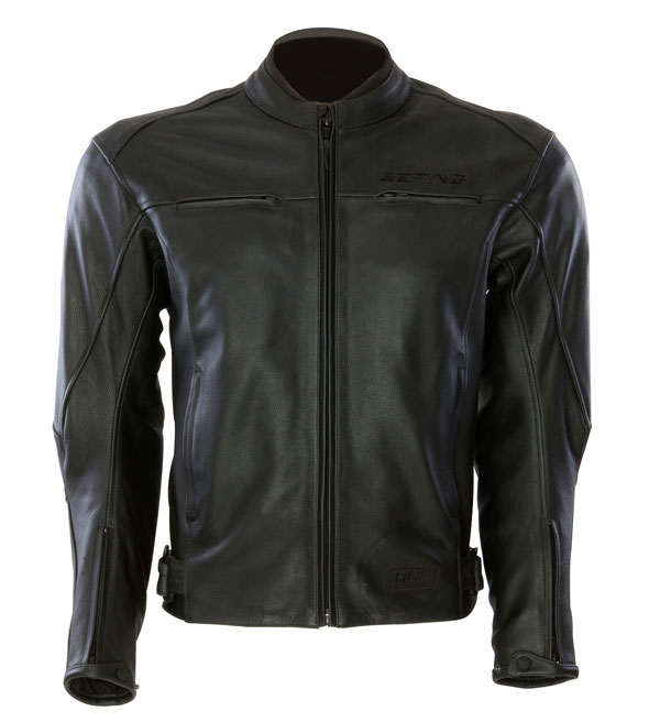 Approved leather motorcycle jacket Bering Dany Black