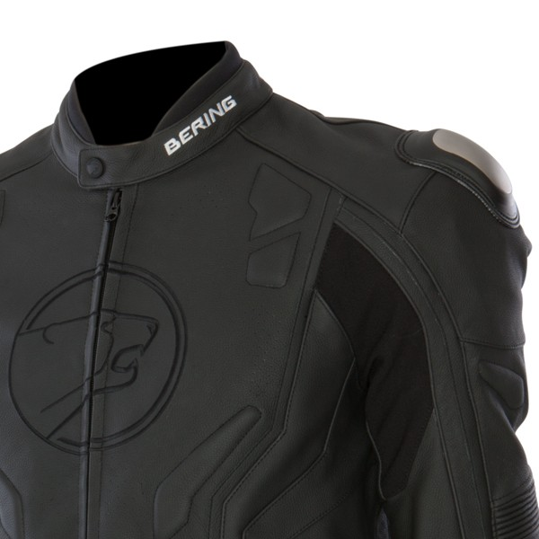 Approved leather motorcycle jacket Bering Flash Black