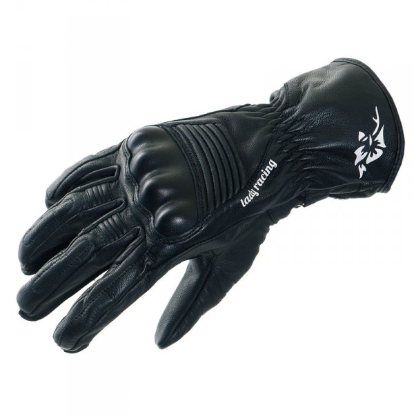 Woman leather motorcycle gloves approved Bering Linda Black