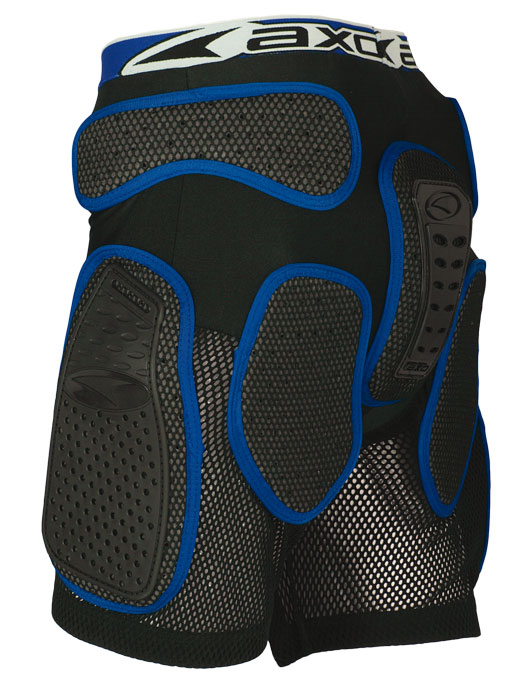 Pantaloncini protettivi AXO Rock Pant Nero Blu