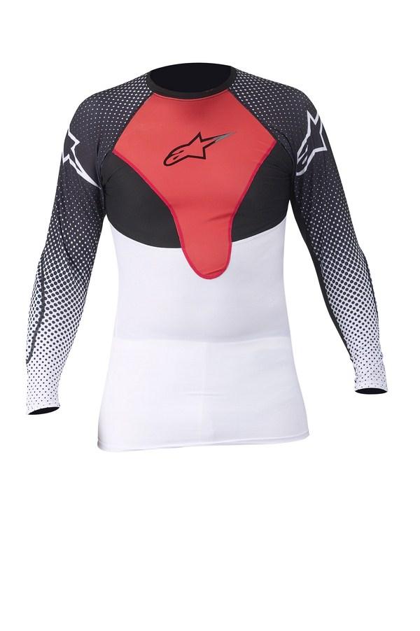 Maglia termica Alpinestars CX Compression bianco-rosso-nero