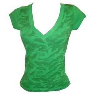 T-shirt Lady Digi Camo V-Neck Tee green  Alpinestars
