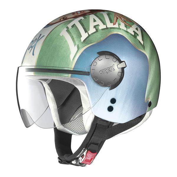 Grex DJ1 City Artwork jet helmet White Italy