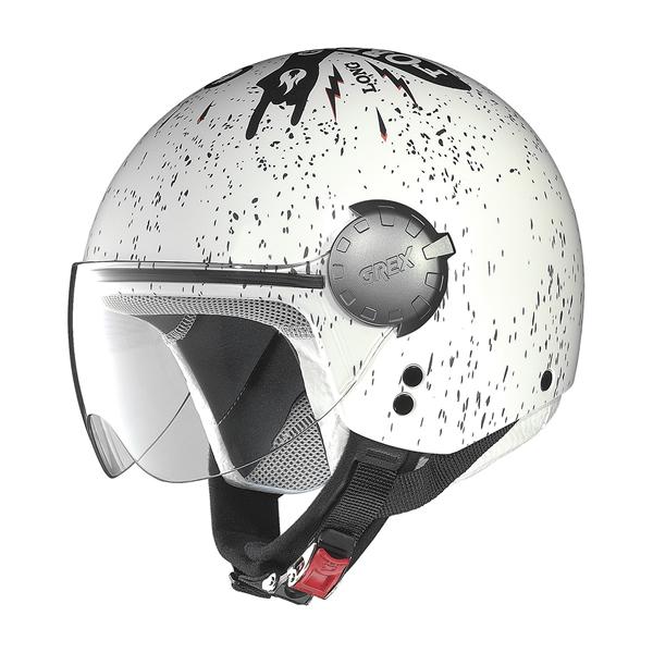 Grex DJ1 City Helmetart jet helmet White Black