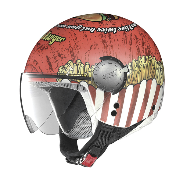 Grex DJ1 City Helmetart jet helmet Red White