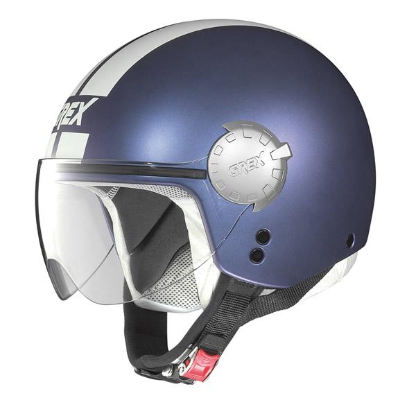 Helmet demi jet Grex DJ1 City Stripes flat purple