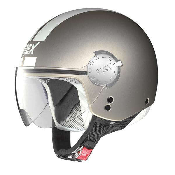 Helmet demi jet Grex DJ1 City Stripes flat sand