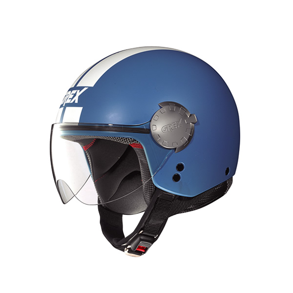 Casco moto Grex DJ1 City Stripes Flat cornflower