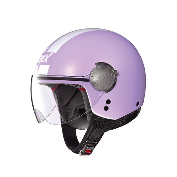 Grex DJ1 City Stripes demi-jet helmet flat lavender