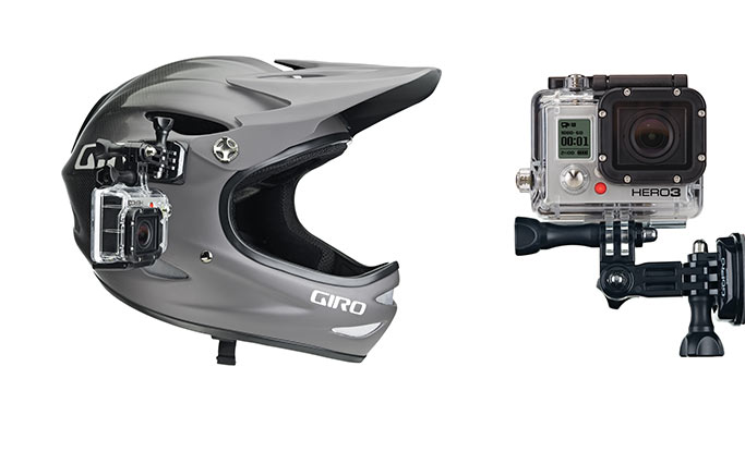 Sistema fissaggio laterale per casco GoPro Side Mount